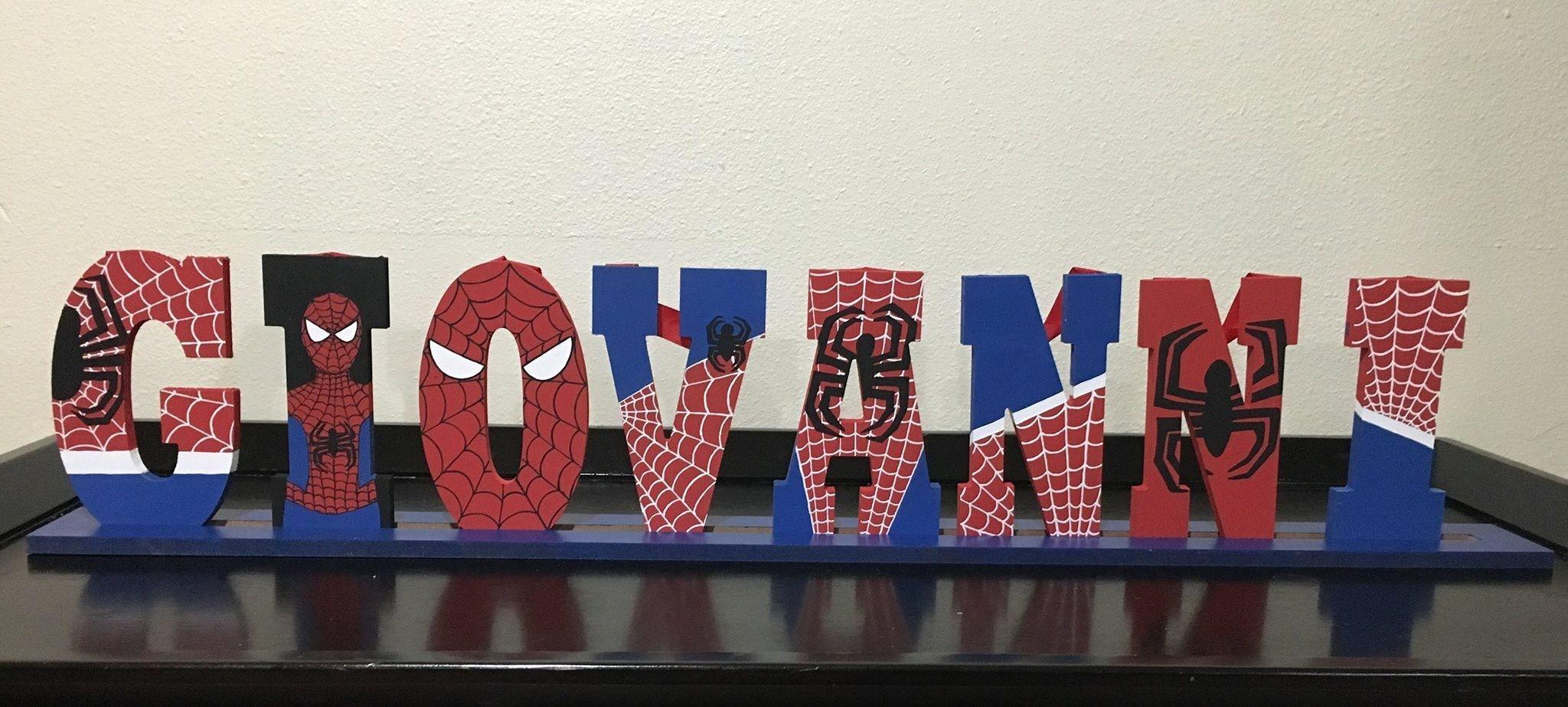 Spiderman DO NOT ENTER...Personalised Children/'s Door Hanger
