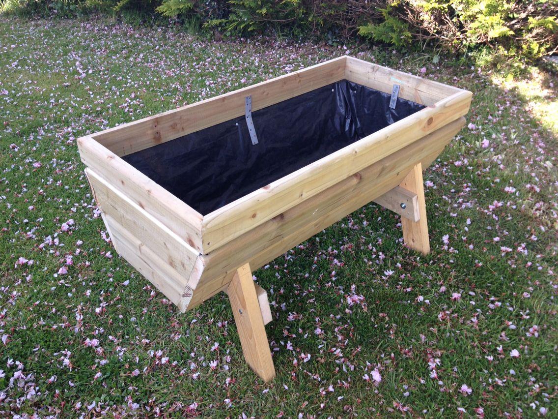 Planter wooden treated wood garden raised