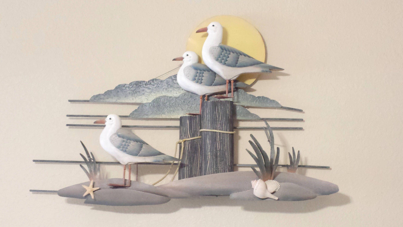 Seagull Trio Metal Wall Art By Degfurnituredesigns On Etsy Metal Wall Art Wall Art Metal