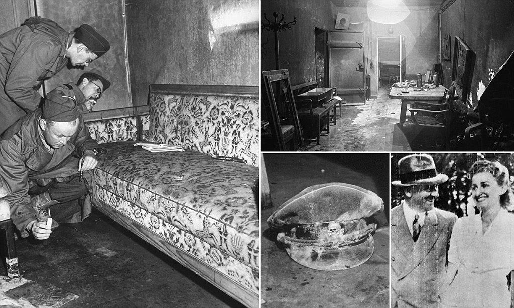 Pictured squalid sofa where hitler and eva braun killed for American sofa berlin