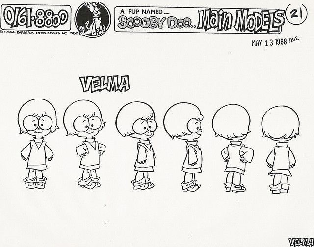A pup named scooby doo velma model sheet 1988 a pup named scooby doo velma model sheet 1988 by kerrytoonz via flickr malvernweather Images