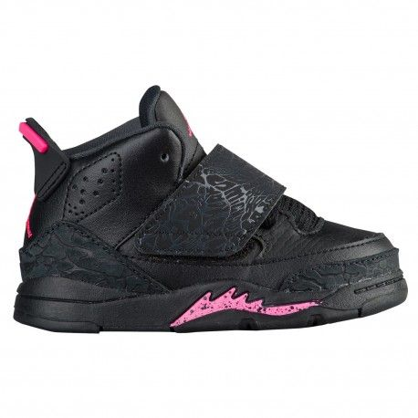 57c6dddcb173 cheap pink girl jordan shoesjordan son of mars girls toddler basketball  shoes black hyper pink anthracite