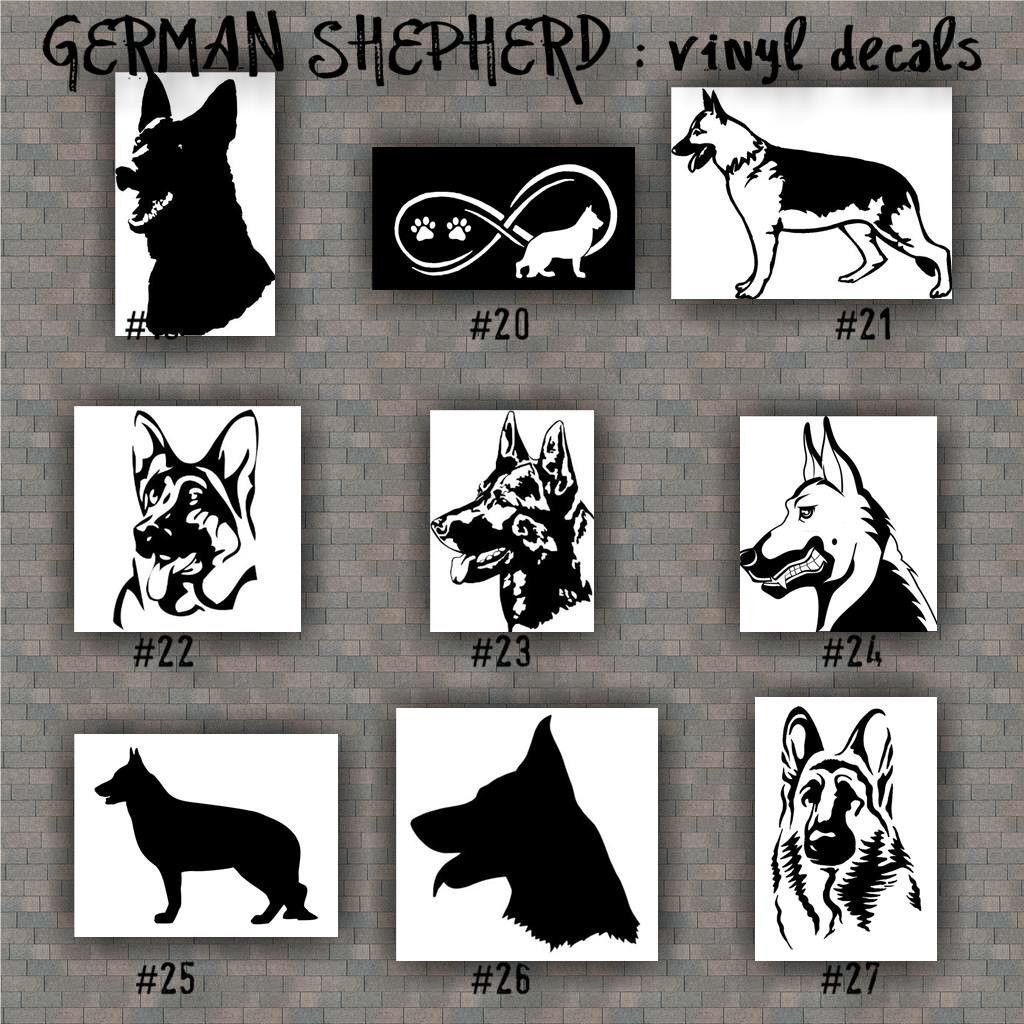 German Shepherd Stickers German Shepherd Vinyl Decals - Vinyl stickers on cars
