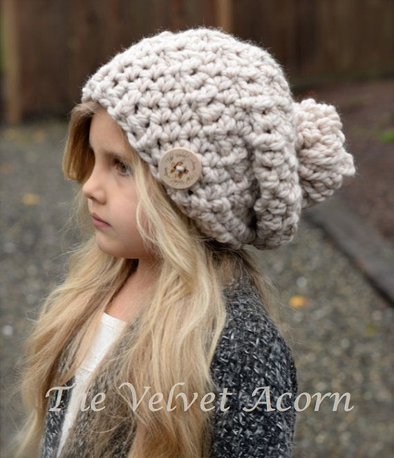 Crochet PATTERN-The Bain Slouchy (Toddler, Child, and Adult sizes ...