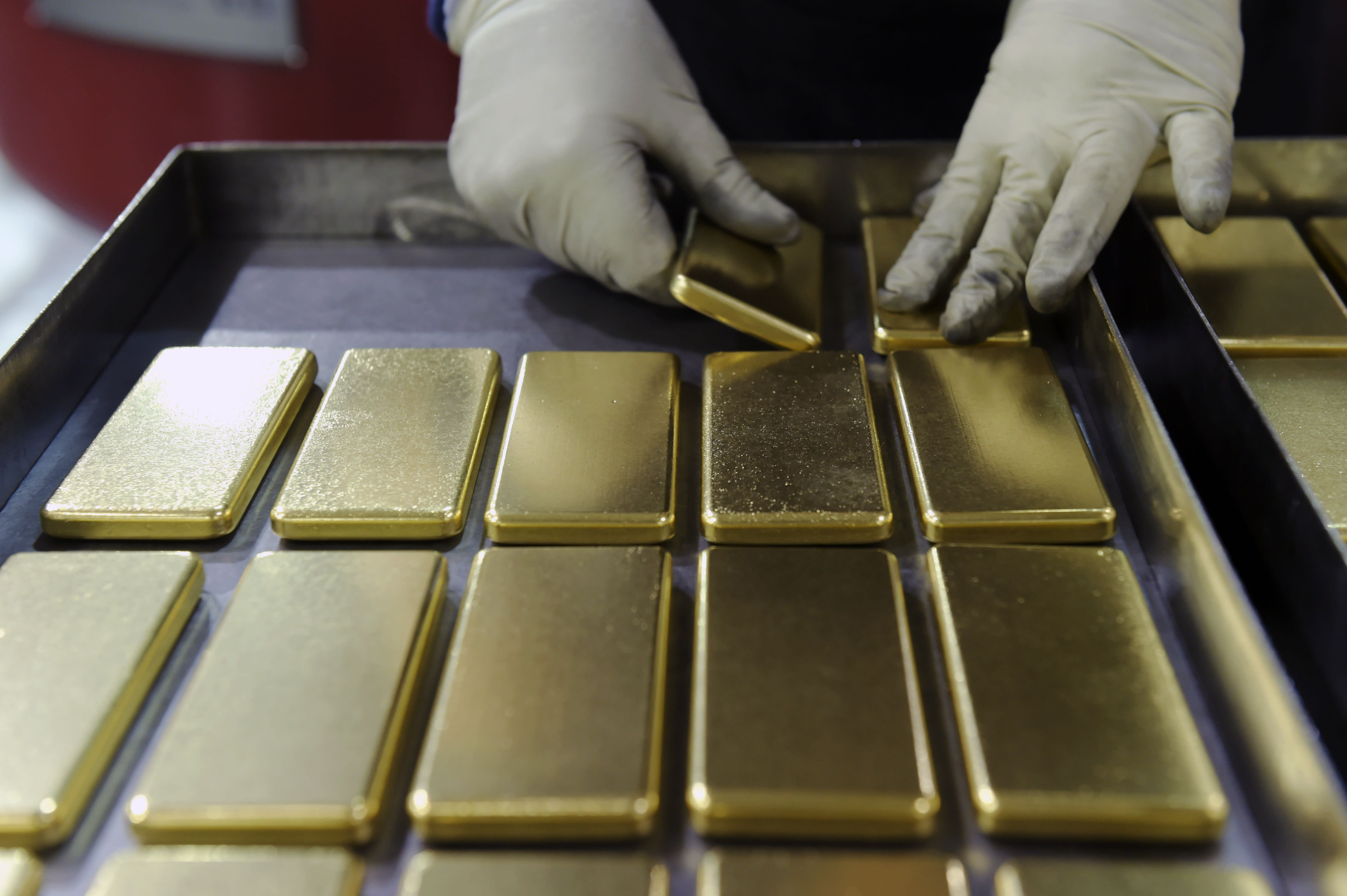 Jim Cramer Charts show gold prices are nearing a peak in