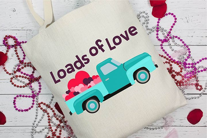 Download Valentine's Day SVG Valentine Vintage Truck Loads Of Love ...