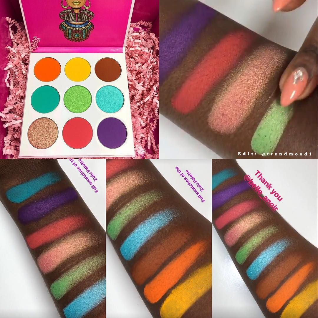 Zulu Palette Swatches JUVIAS Place NEW Makeup dupes