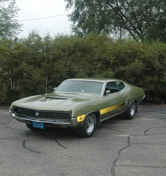 Nick Heiser Chuckles At The Thought Of His Mean Green 1970 429 Cobra Jet Torino Gt Being Considered Somewhat Of An Ove Ford Torino Classic Cars Muscle Tv Cars