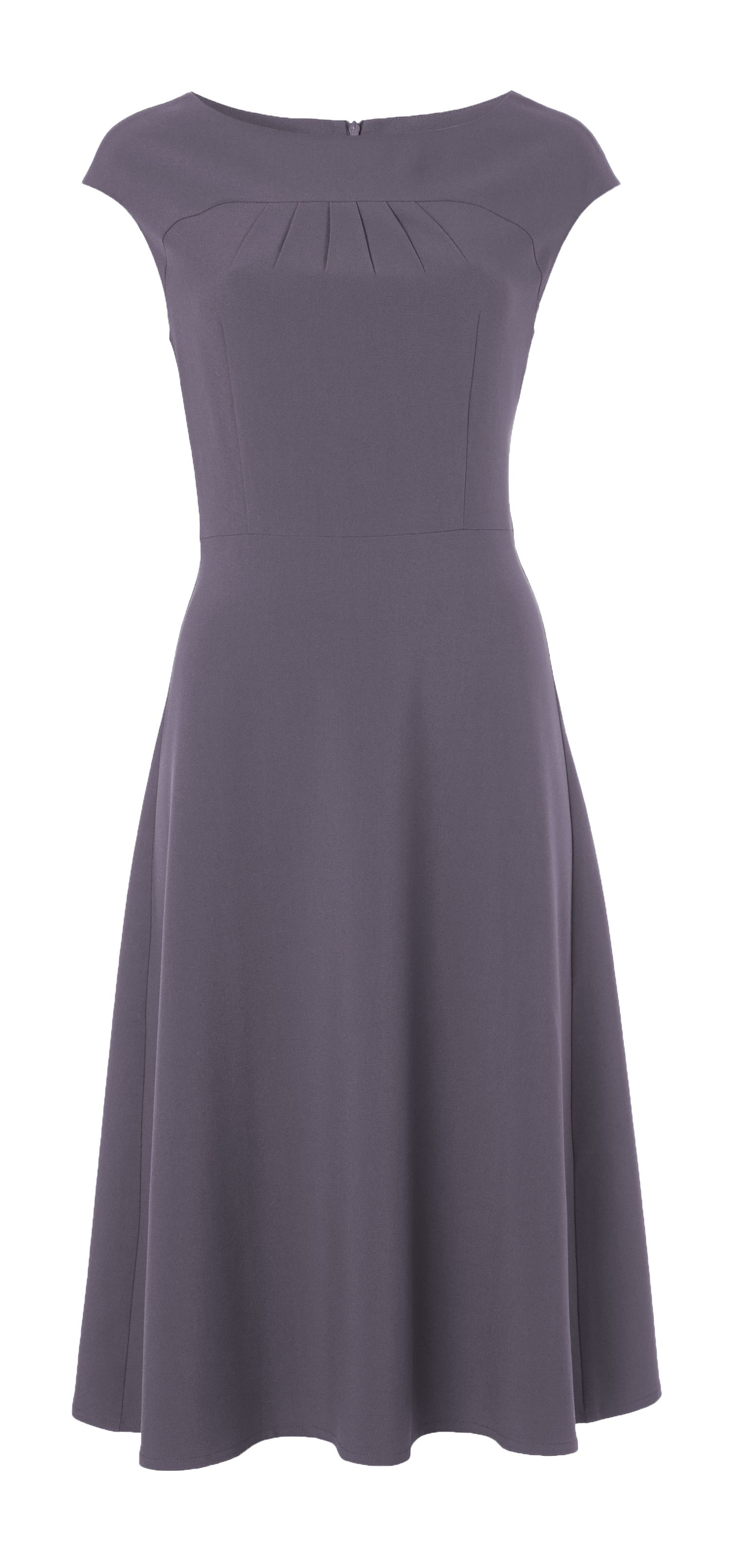 Fit-and-flare work dress Odrey features flattering cut line and ...