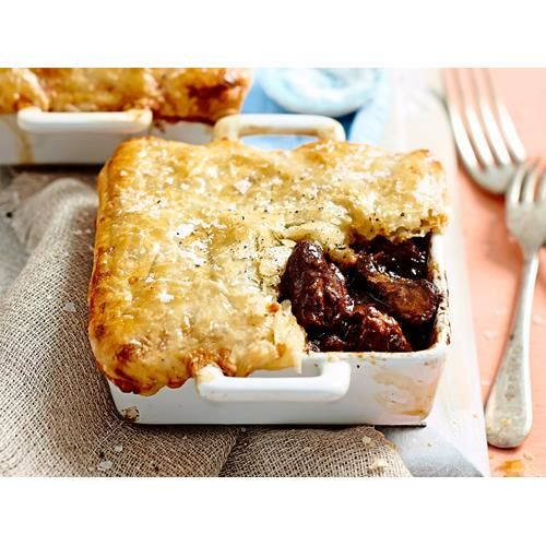 This is no ordinary beef and mushroom pie. This one features slow-cooked beef, portobello mushrooms and topped with an irresistible cheese pastry