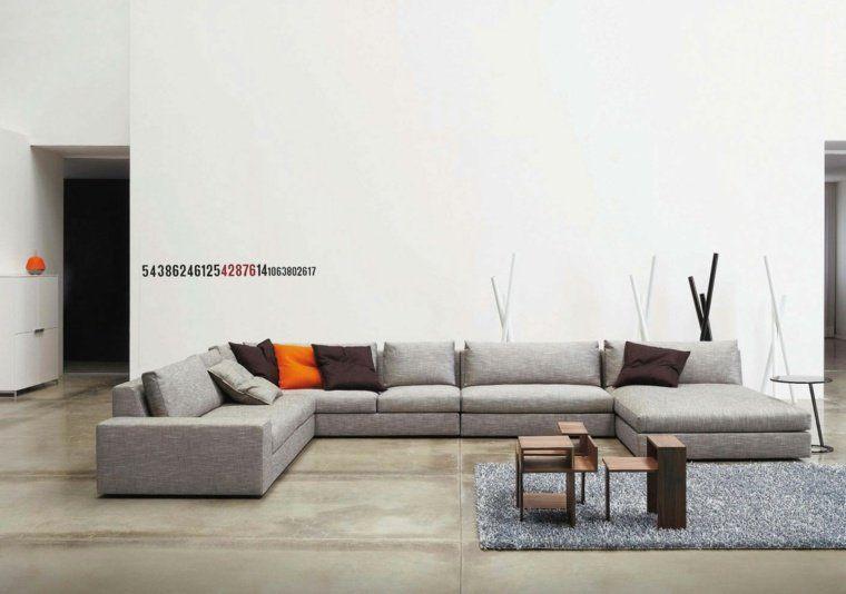 dco moderne pour le salon 85 ides avec canap gris couleur tendance - Les Couleurs Tendance Pour Un Salon