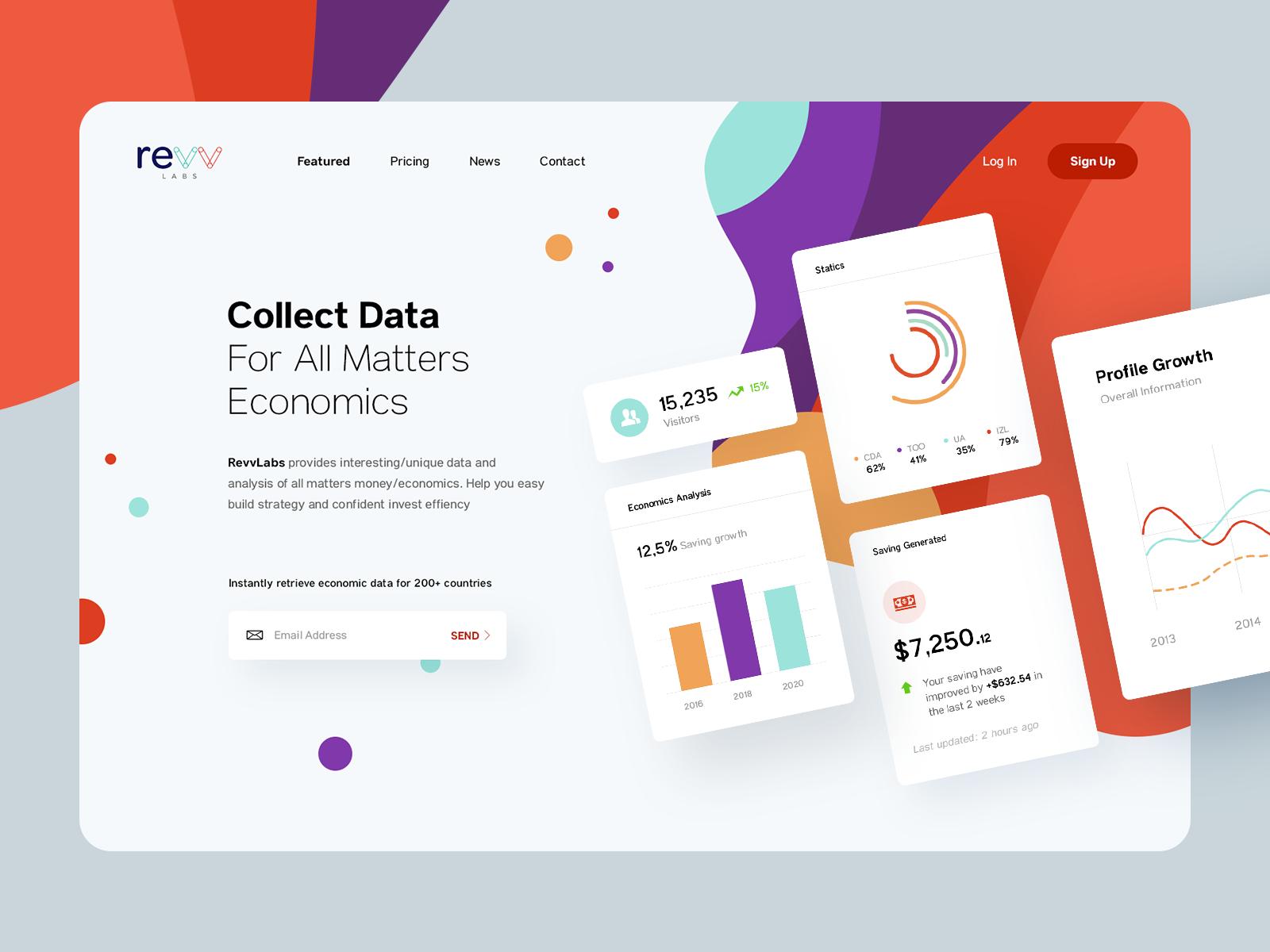 Revvlabs Provide Database Service Hero Banner In 2020 Web Design Websites Web Layout Design Website Mockup