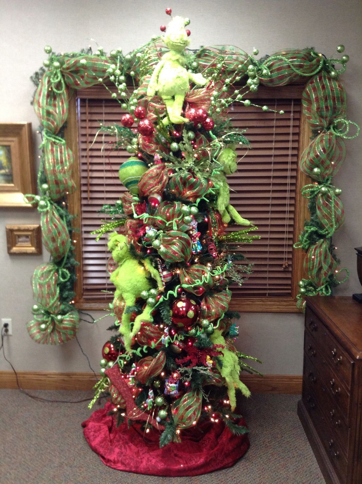 New Grinch Christmas Tree Window Decor