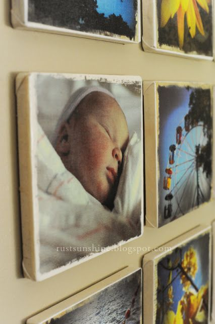 make your own photo canvases using iron on transfer paper
