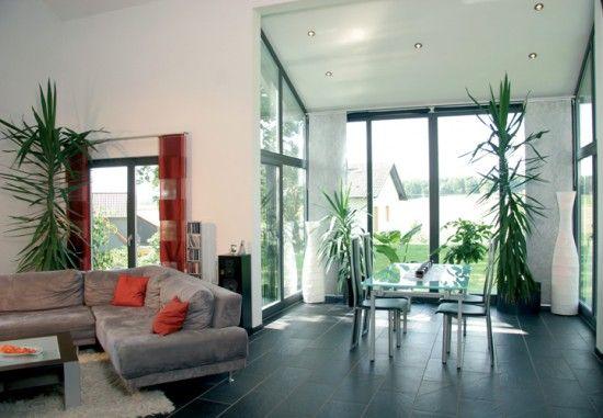 Fertighaus Wohnidee Wohnzimmer Pultdachhaus für zwei Wohnideen