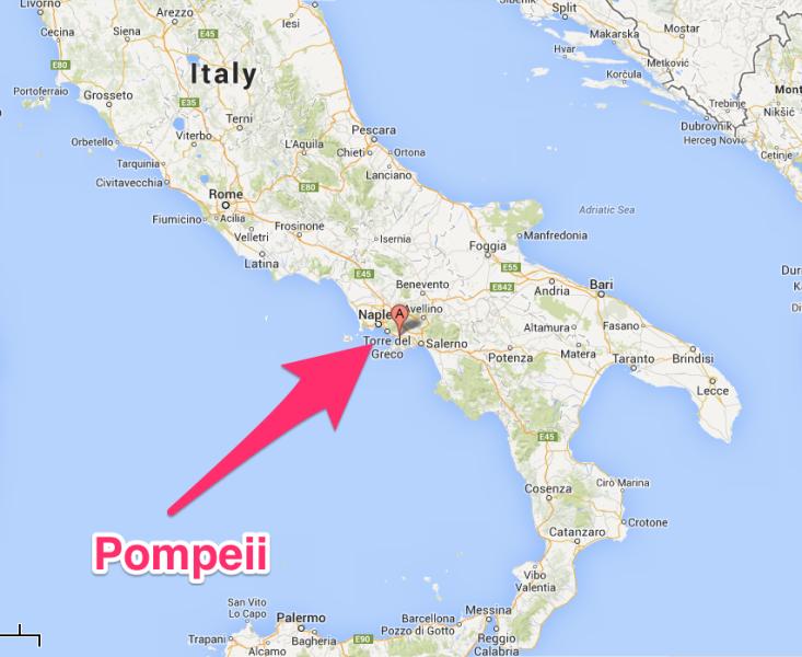 Pompeii Italy Map Pompeii Italia kart