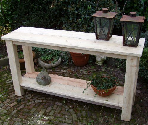 Steigerhout Sidetable Tuin.Hajavama Tafels En Andere Meubels Uit Steigerhout Voor Binnen En