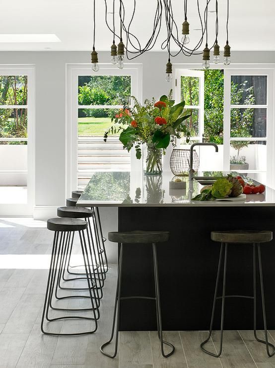 Best Beautiful Kitchen Features Light Gray Cabinets Adorned 640 x 480