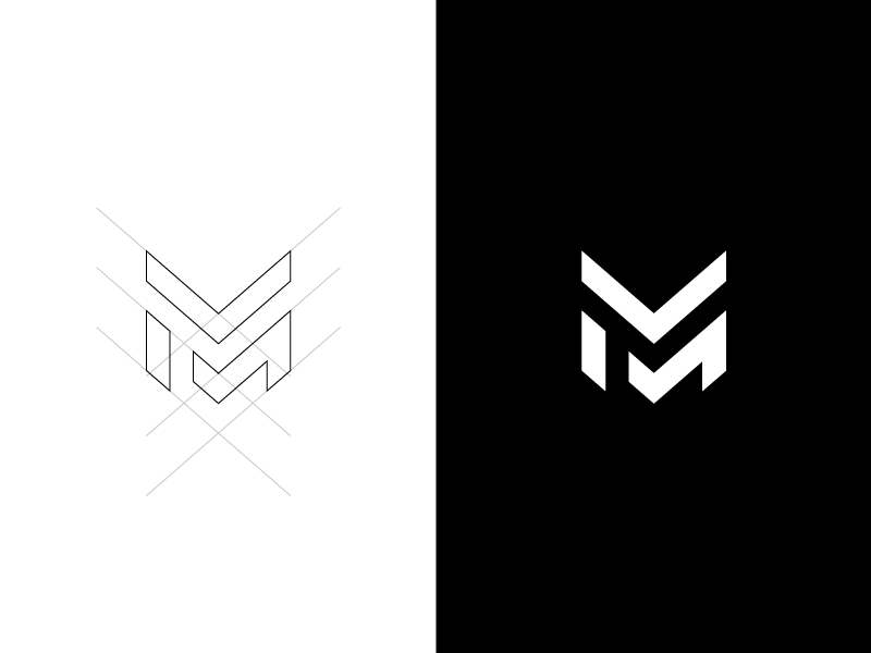 M Esport Logo Initials Logo Design Typographic Logo Design Graphic Design Logo