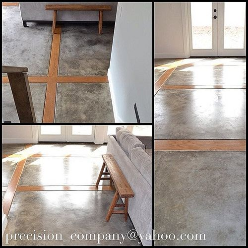 Home Addition Custom Polished Concrete Flooring With
