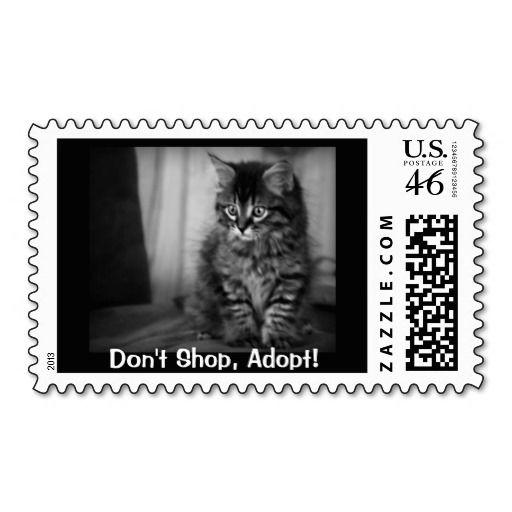 Pet Adoption Postage Stamp