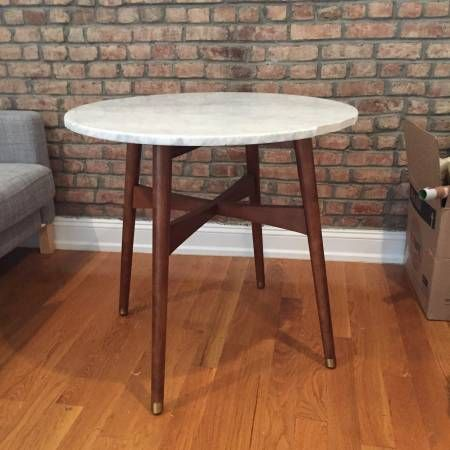 West Elm Marble Reeve Mid Century Bistro Table   perfect for dining  Bought  basicallyWest Elm Marble Reeve Mid Century Bistro Table   perfect for  . Marble Dining Table West Elm. Home Design Ideas