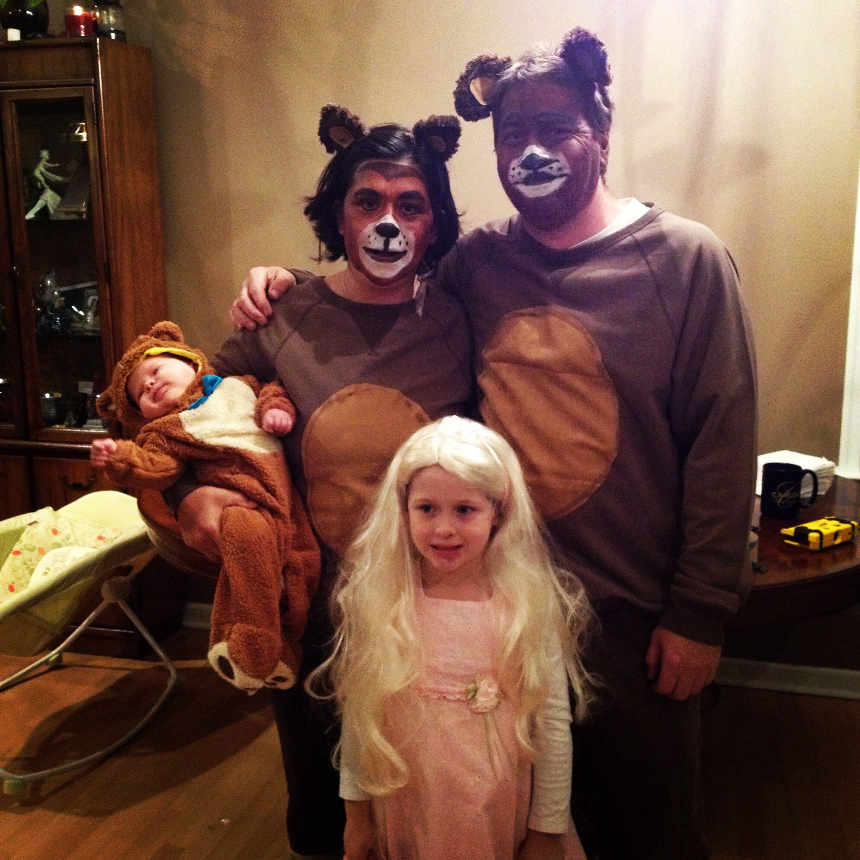 halloween costume idea goldilocks and 3 bears family of 4 costume ideas - Goldilocks Halloween Costumes