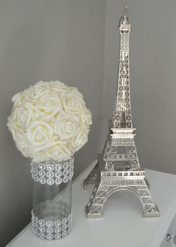 Eiffel tower centerpiece parisians theme decor by kimeekouture brand pinterest eiffel - Eiffel tower decor for bedroom ...