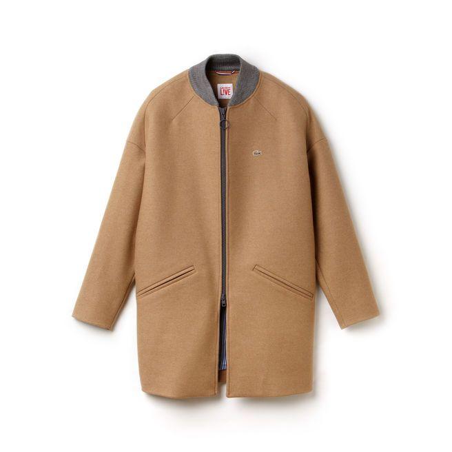 2902f4028e Ce manteau Lacoste Live parfaitement coupé est confectionné dans un beau  drap de laine chaud et confortable. Un modèle indispensable qui signe tous  les ...