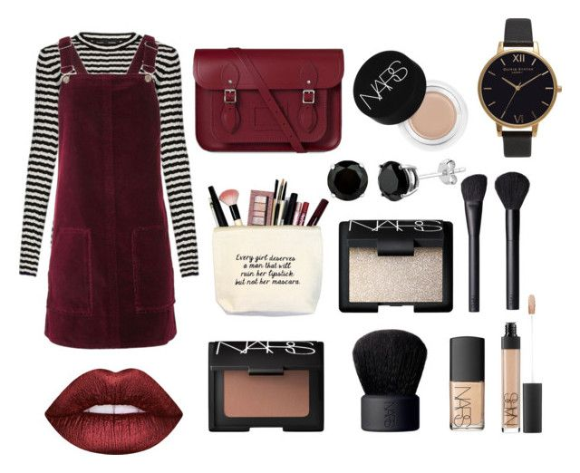 """""""17/2/17"""" by poppyyallann ❤ liked on Polyvore featuring Proenza Schouler, Topshop, The Cambridge Satchel Company, NARS Cosmetics, Olivia Burton and Lime Crime"""