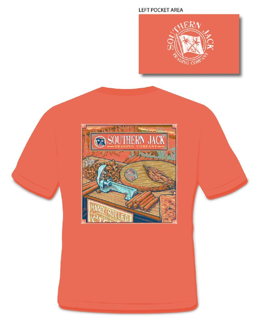 Southern Jack Apparel Cigars Comfort Colors Unisex Frass Bright T Shirt