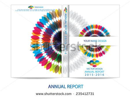 Annual report cover design Portadas Catalogos Pinterest - annual report cover page template