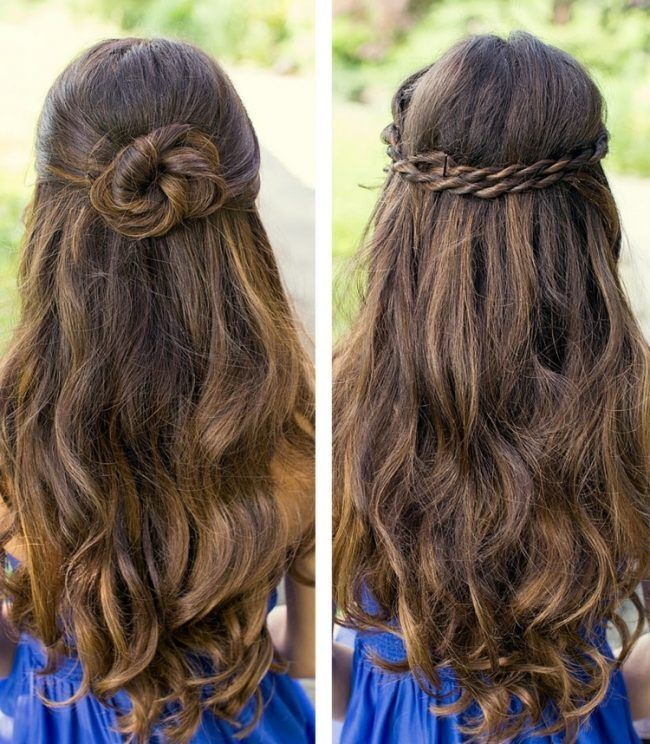 Idees Coiffures Demi Ouvertes Dutt Zwirbeln Attirent Les Cheveux Longs Frisuren Ein Open Hairstyles Curls For Long Hair Graduation Hairstyles For Long Hair