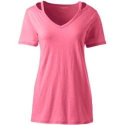 Photo of Shirt mit Cut-out in Petite-Größe – Pink – 40-42 von Lands' End Lands' End