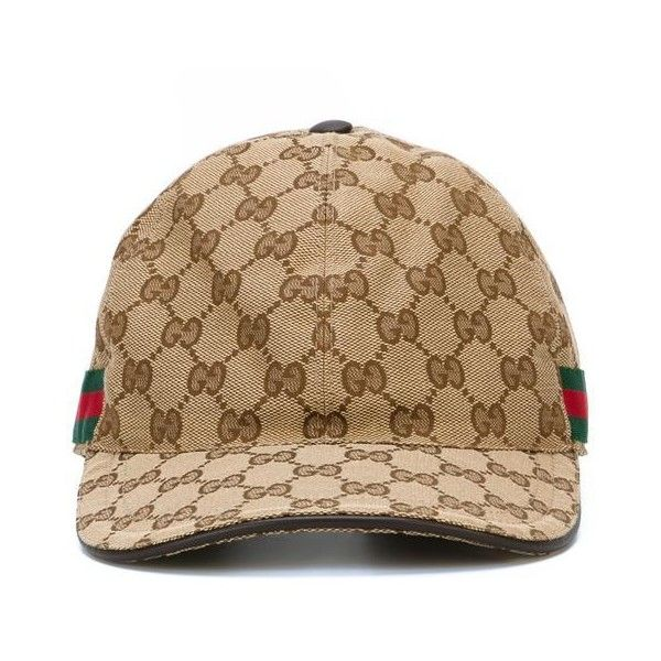 6757dcbebe2 GUCCI Rap Baseball Cap With Snake And Gg Logo Detailing ❤ liked on Polyvore  featuring accessories