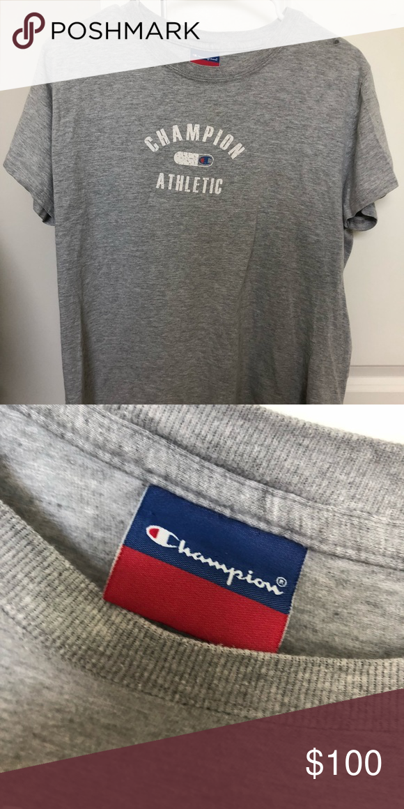 b9b2d2b38686 Vintage Champion Tee vintage women's xs champion athletic shirt, small  stain on right shoulder, but otherwise great condition Champion Tops Tees -  Short ...