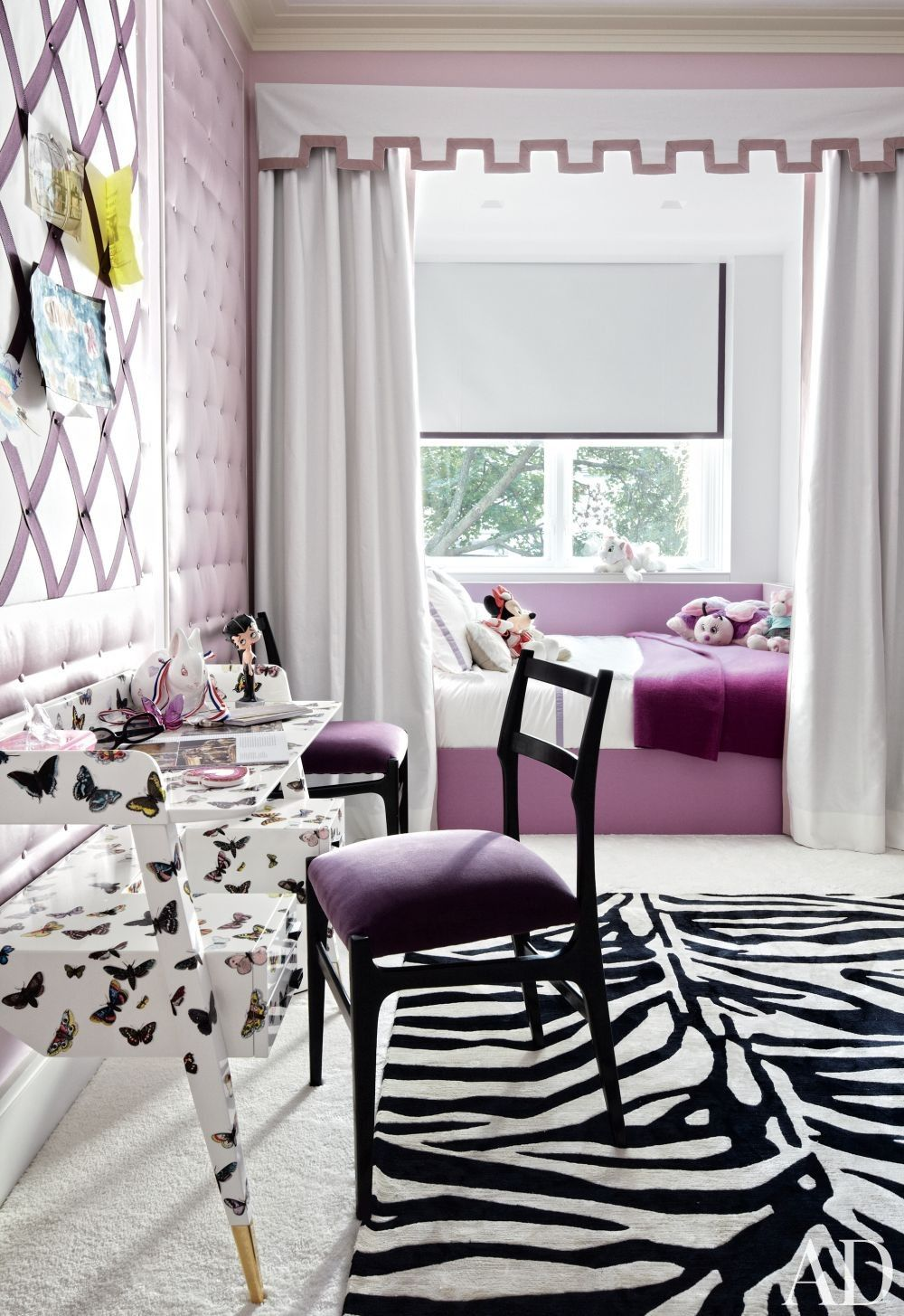 Contemporary Bedroom by Pamplemousse Design and Oliver Cope Architect in New York, New York