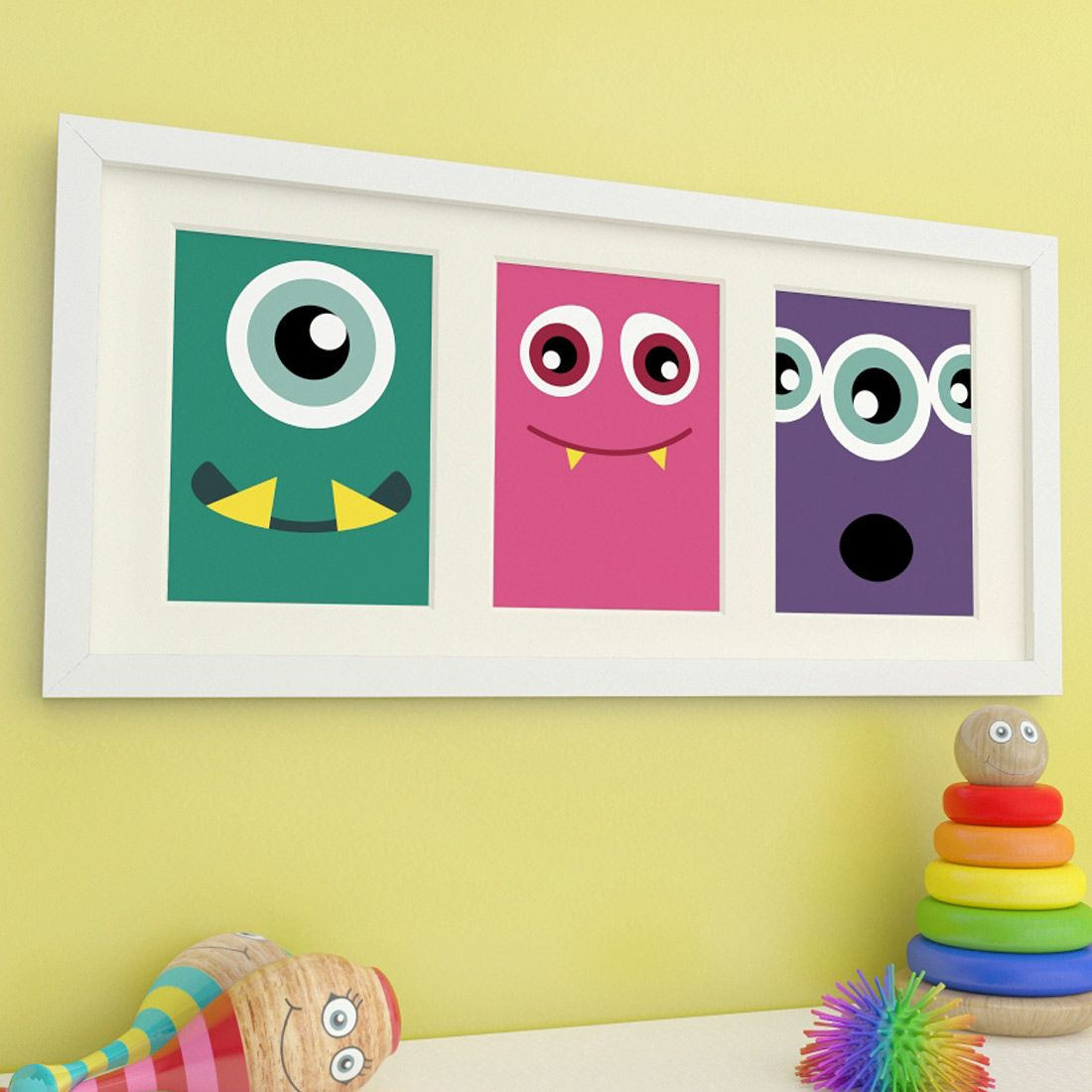 Who says Monsters have to be scary? These colourful prints make a ...