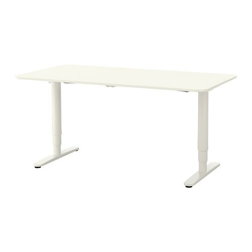 Bekant White Desk Sit Stand 160x80 Cm Ikea Ikea Bekant Ikea Bekant Desk Ikea