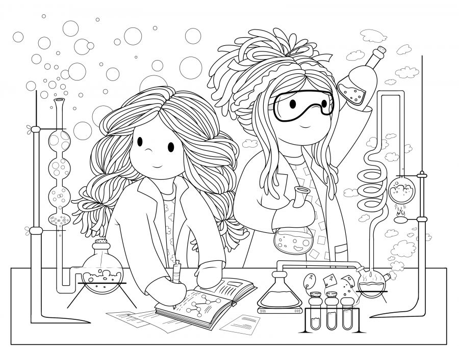New Colouring Page u2013 Science Dolls - new coloring pages about science