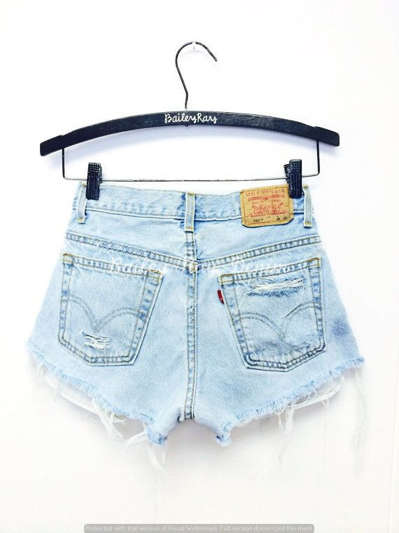 c183f5f6 Levis High Waisted Shorts - Distressed Destroyed Cheeky Cutoffs ...