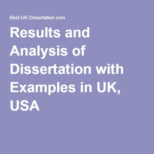 Analysis results dissertation