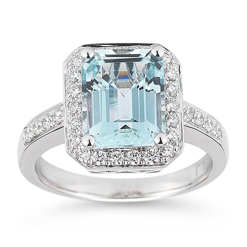 c91e721dad27 Anillo de Aguamarina y Diamantes