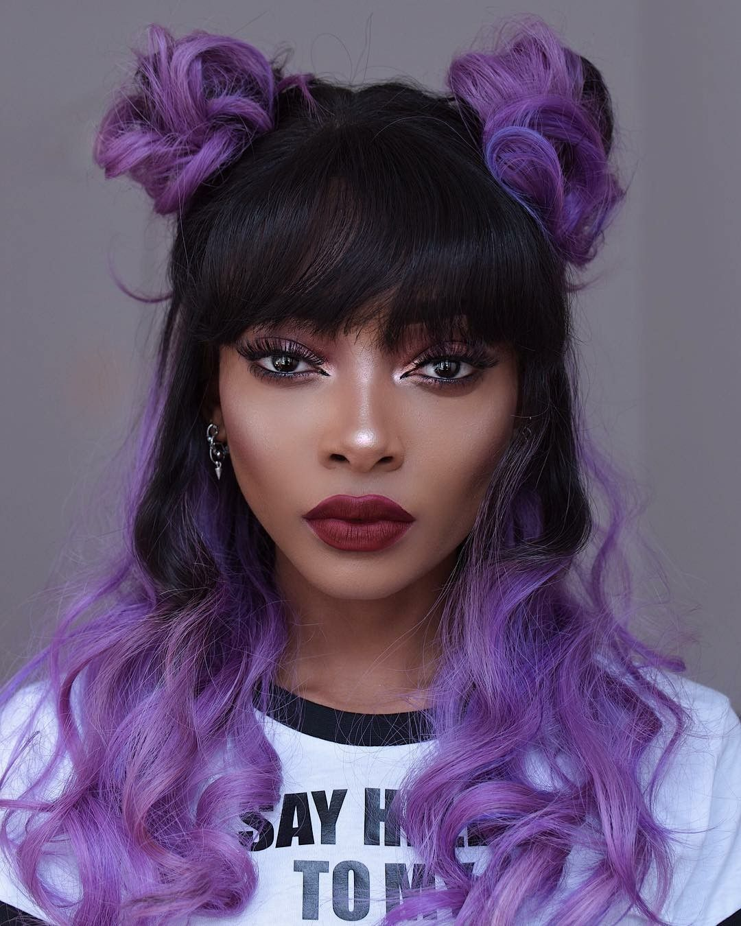 Jnievesdelgado Light Purple Hair Purple Hair Black Girl Hair Color Purple