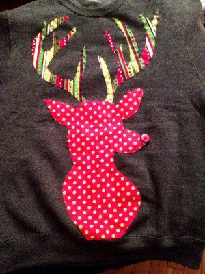 "DIY: Festive Reindeer Sweatshirt: ""The Alternative Ugly Christmas Sweater"""