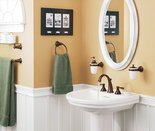 Superior Oval Mirror With Wall Mount Soap Dispenser!