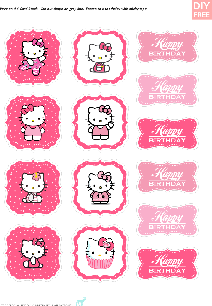 Pin By Justlovedesign On Justlovedesign Blog Hello Kitty Theme Party Hello Kitty Cupcakes Hello Kitty Birthday Party
