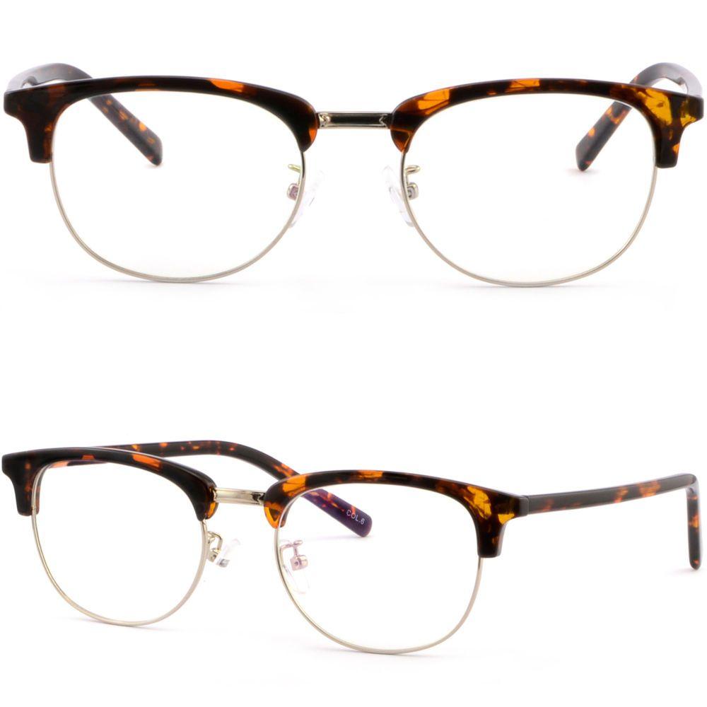 eb85f6389d4 Full Rim Browline Frame Plastic Eyeglasses Prescription RX Glasses  Tortoiseshell  Unbranded