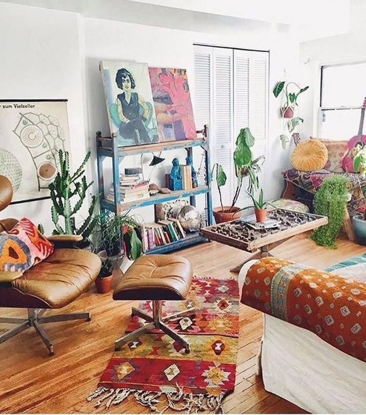 50 comfortable urban bohemian living room design ideas ideas para el hogar pinterest for Urban boho style living room