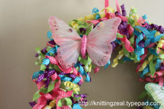 Photo of Crafting a spring ribbon wreath